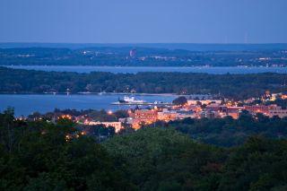 View of Traverse City, Michigan.