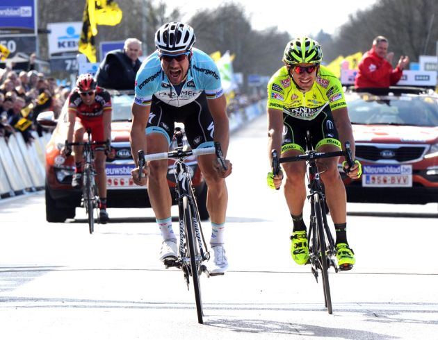 Tom Boonen beats Filippo Pozzato, Tour of Flanders 2012