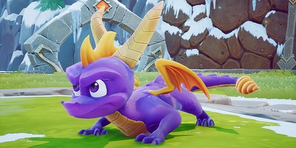 Spyro, ready to pounce.