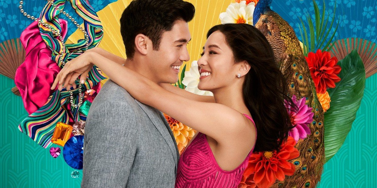Henry Golding and Constance Wu in Crazy Rich Asians Movie Poster