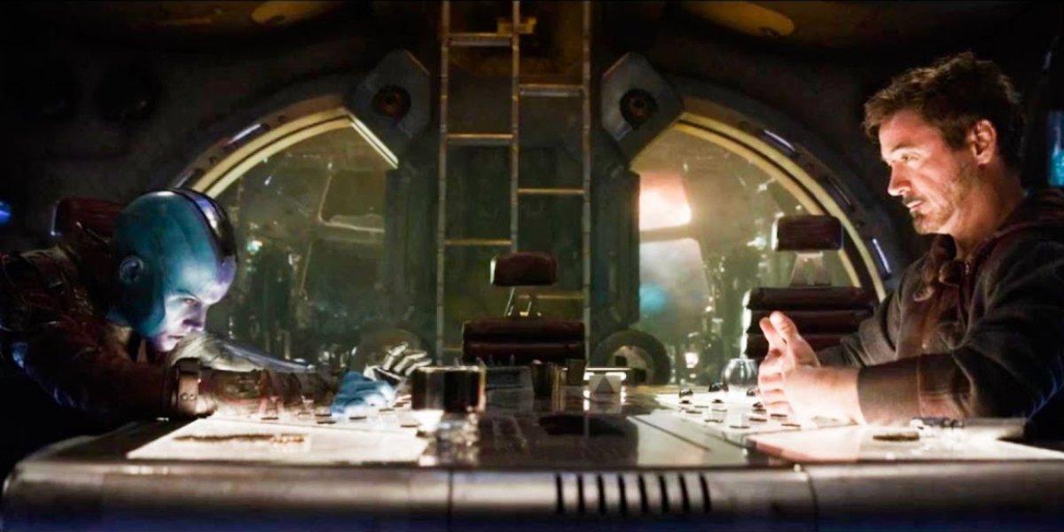 Karen Gillan and Robert Downey Jr. in Avengers: Endgame