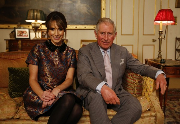 BBC presenter Alex Jones with Prince Charles