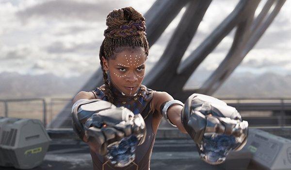 Shuri in infinity war using Wakanda technology