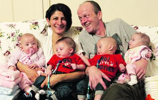 Pregnant with quads and with nowhere to live, this coupale turn to family for help
