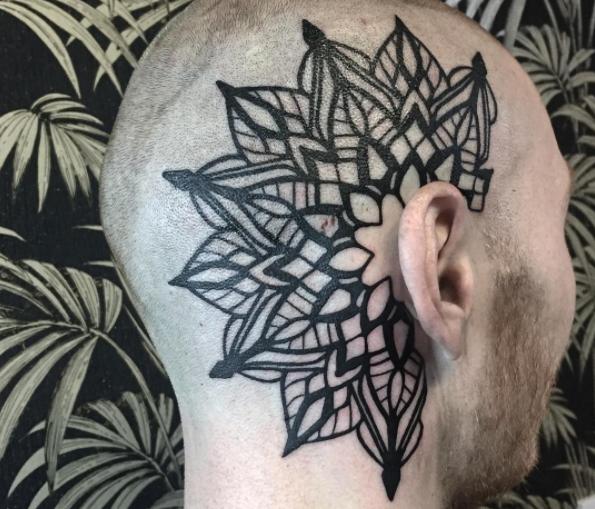 Bold mandala tattoo