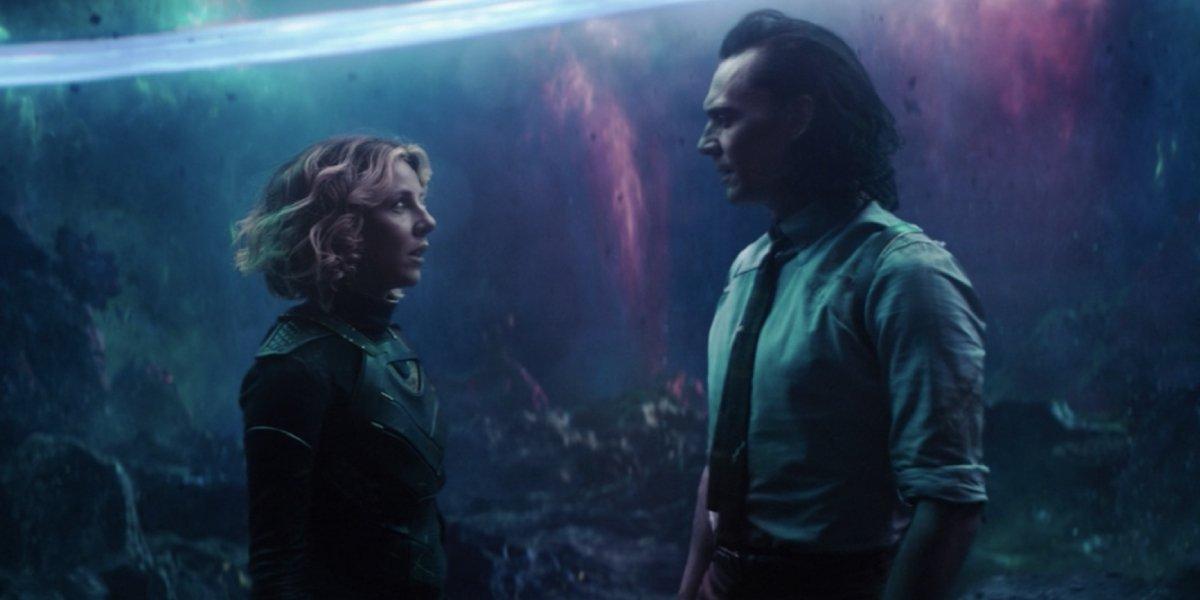 Sophia Di Martino and Tom Hiddleston on Loki