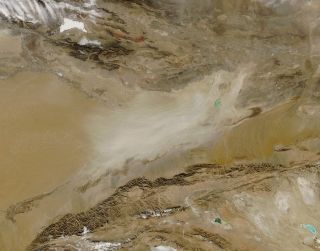 An image of desert dust storm
