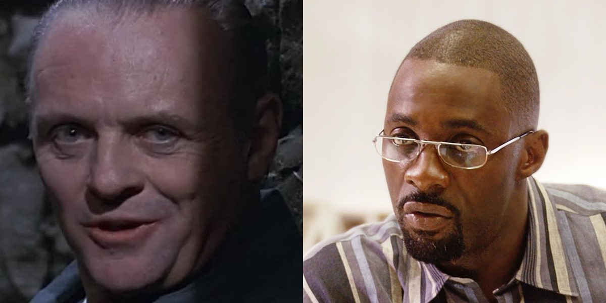 Anthony Hopkins on the left, Idris Elba on the right