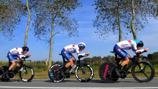 Great Britain's men in the mixed relay team time trial