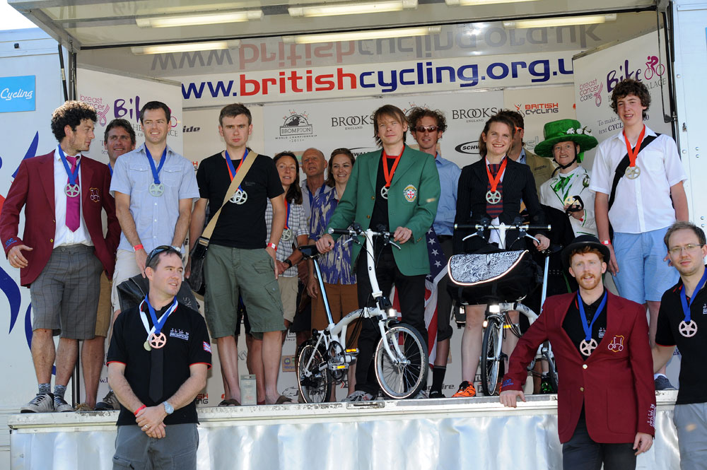 Brompton world champ winners, Bike Blenheim Palace 2011, August 21 2011