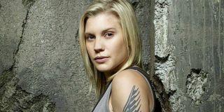 Katee Sackhoff as Kara Thrace in Battlestar Galactica promo photo, Syfy