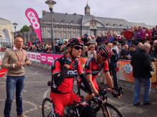 Philippe Gilbert (BMC) makes sure that he's early to the start