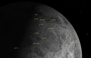 Mountains on the Northern Half of the Moon Sky Map