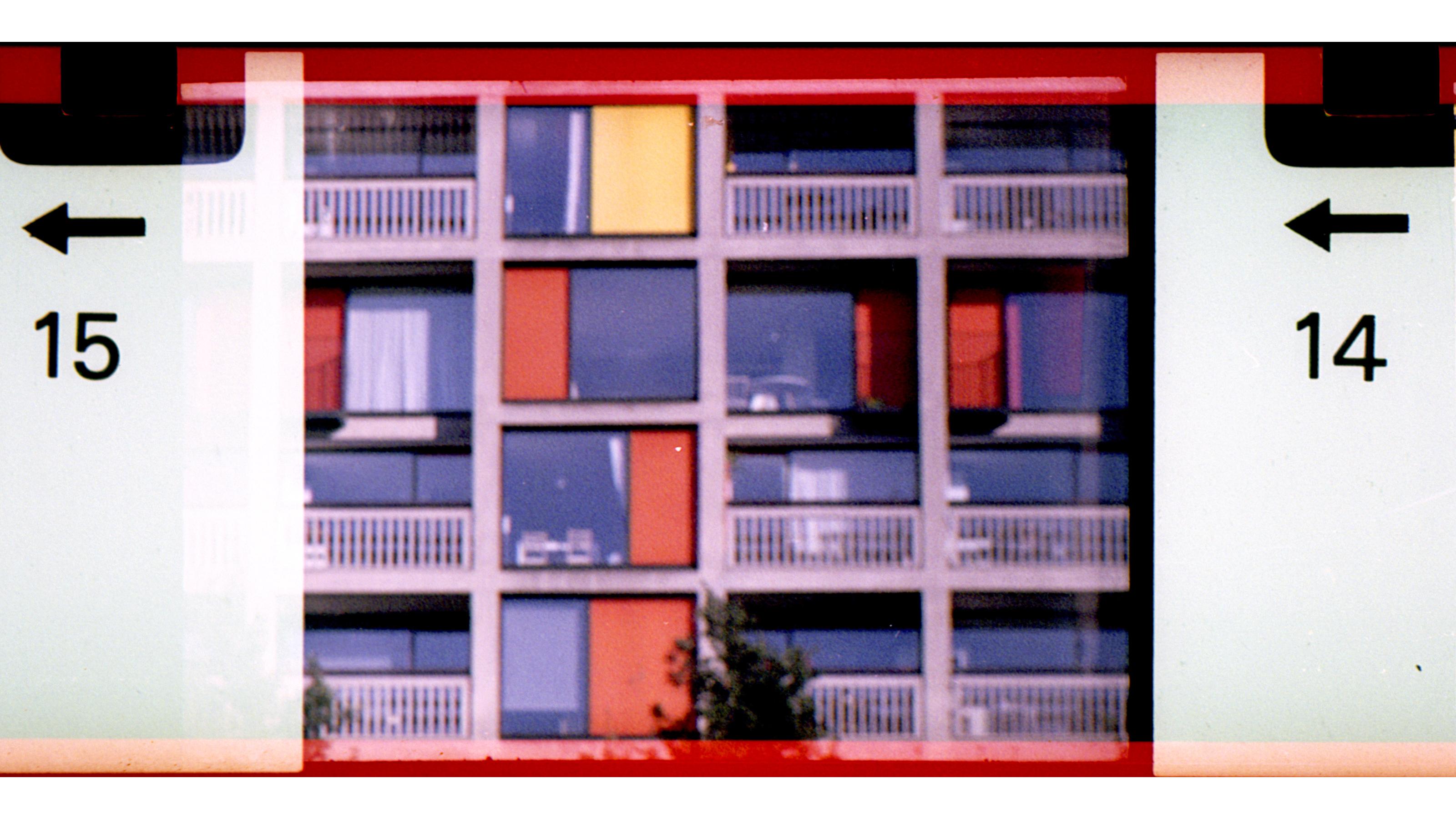 Photo of a block of flats taken with the Tasco 7900 Binocular Camera