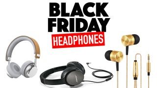 a collage of headphones for black friday 2017