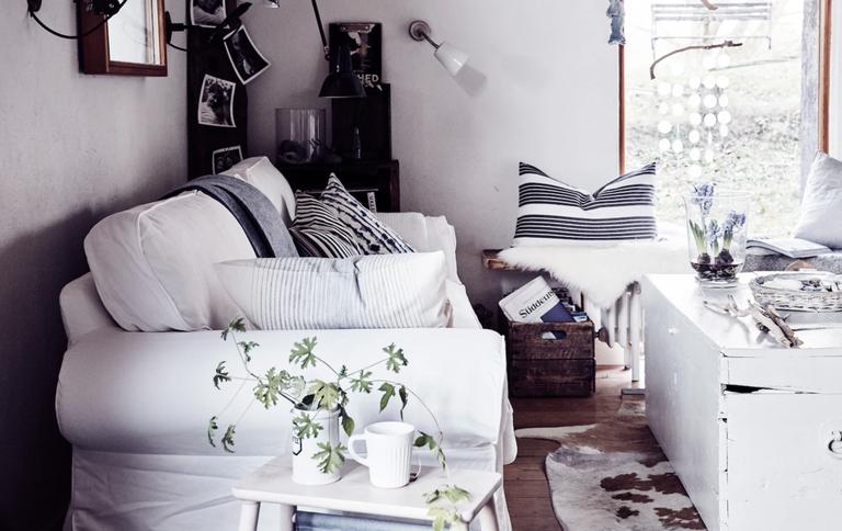 Ikea cozy living room