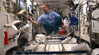 Richard Garriott Floats in the ISS