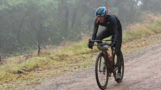 Peter Stetina tackles a gravel sector at the Low Gap round of the Grasshopper Adventure Series