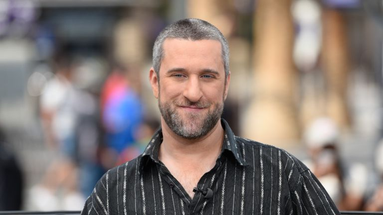 "Dustin Diamond visits ""Extra"" at Universal Studios Hollywood on May 16, 2016 in Universal City, California"