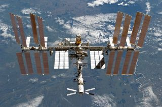 This photo of the International Space Station was snapped by an STS-133 crew member on the space shuttle Discovery on March 7, 2011.