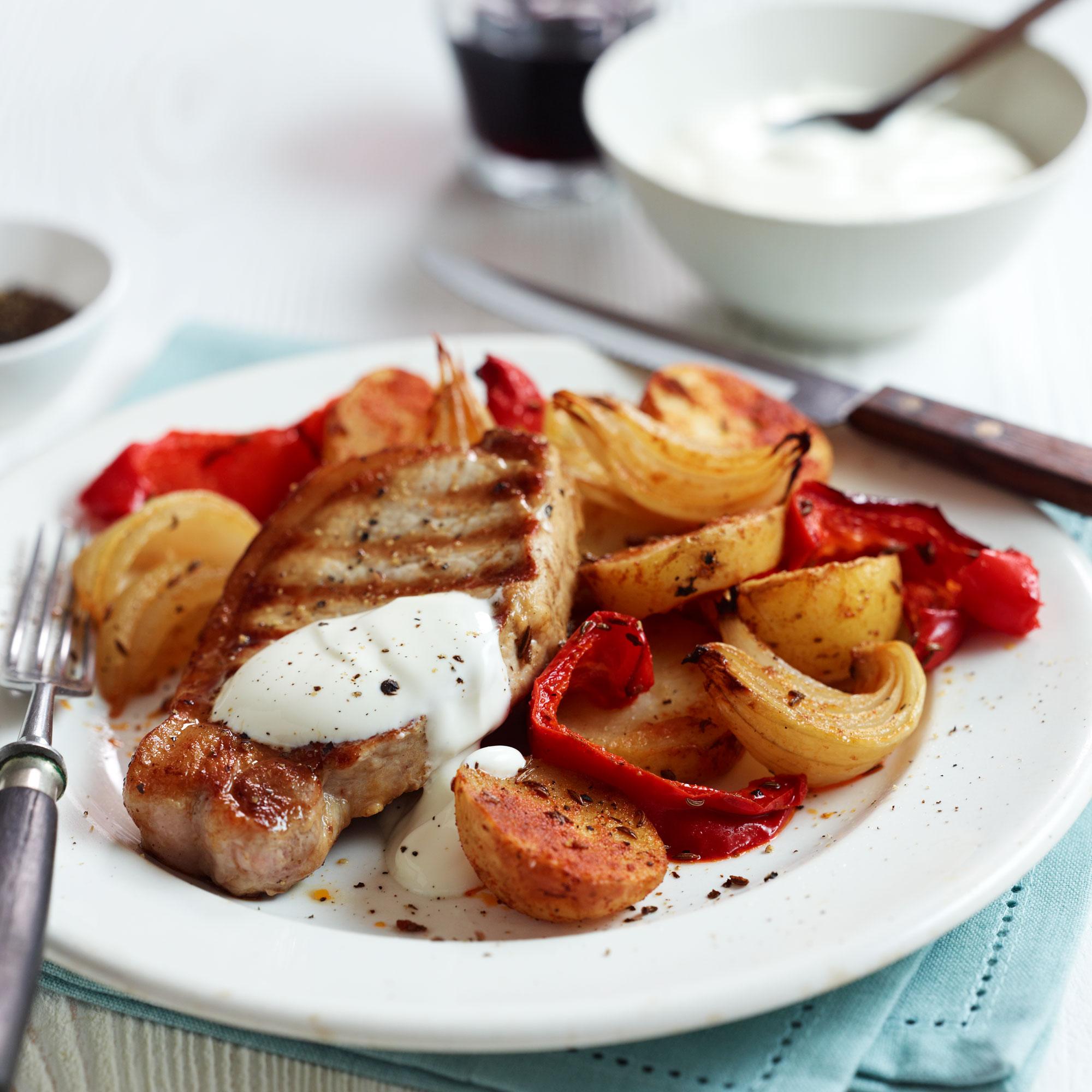 Pork Loin Steaks With Paprika Potatoes Recipe