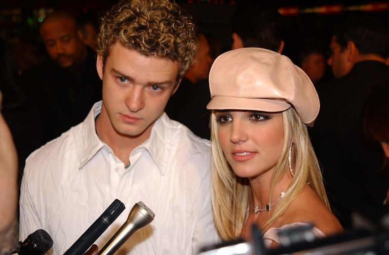 Justin Timberlake and Britney Spears at the Crossroads Hollywood premiere
