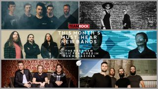 A collage of image of new bands