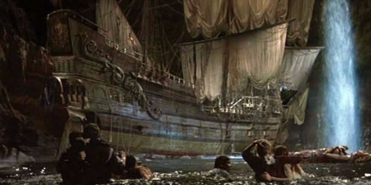 One-Eyed Willy's pirate ship in The Goonies