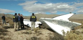 Tail section of SpaceShipTwo crash, space travel accidents