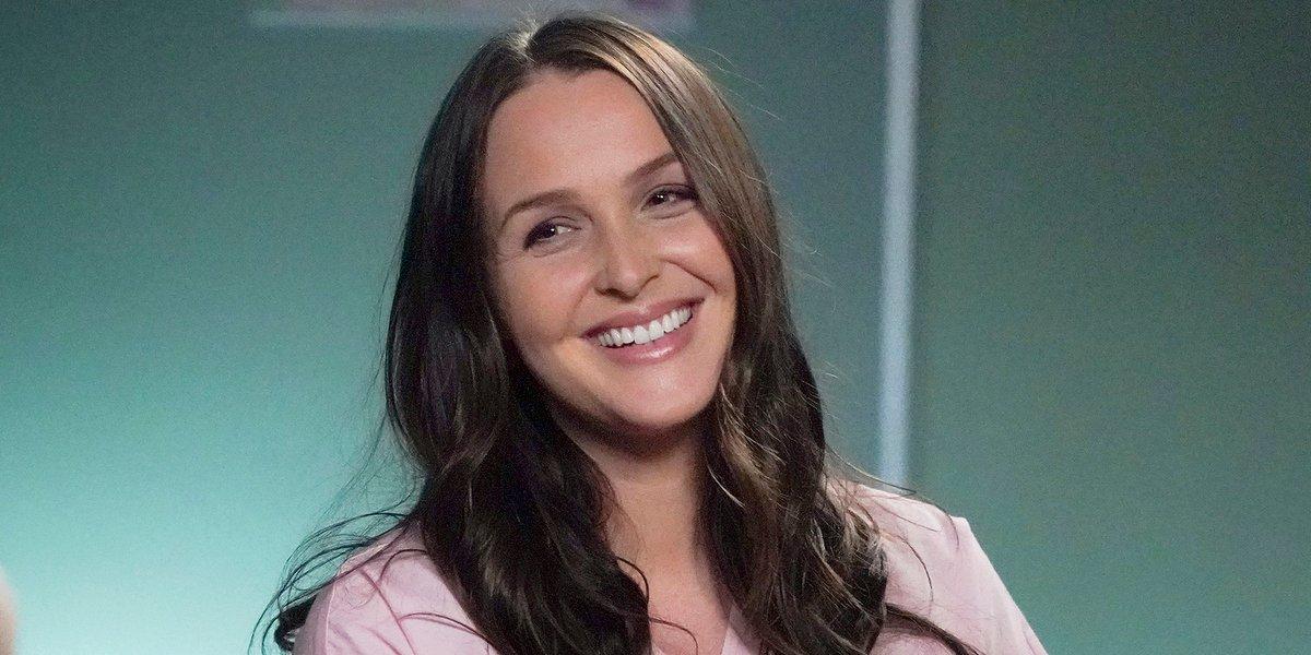 Grey's Anatomy Jo Wilson smiles brightly