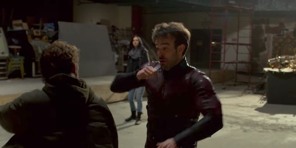 Iron Fist and Daredevil fighting