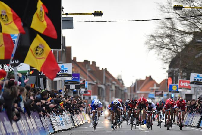 The dash to the finish line at Gent-Wevelgem