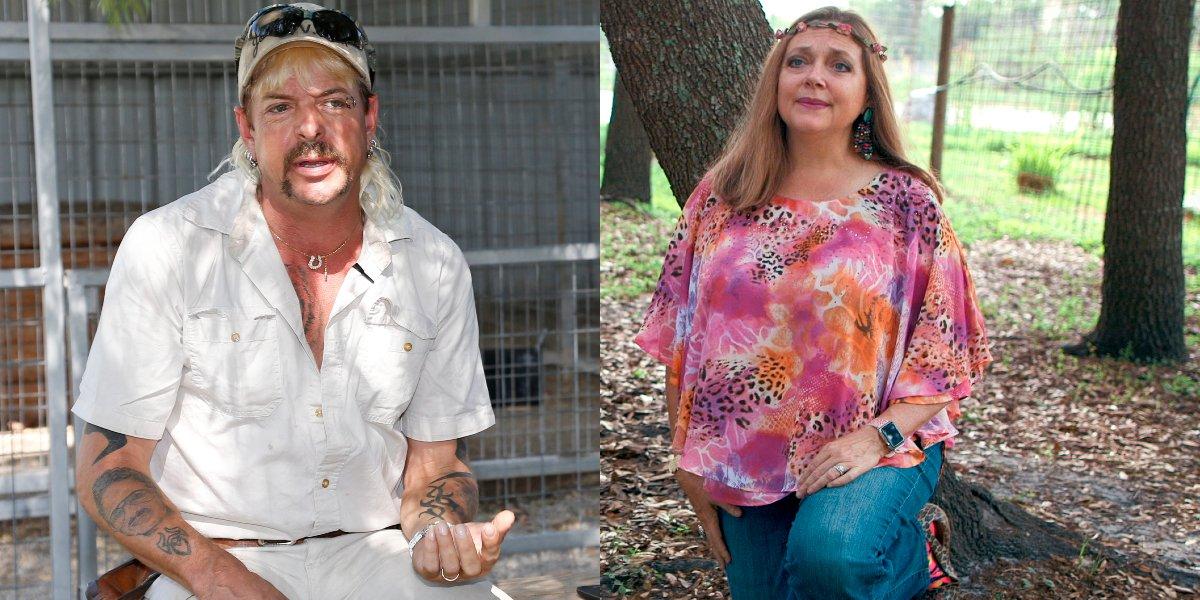 Joe Exotic and Carole Baskin on Tiger King