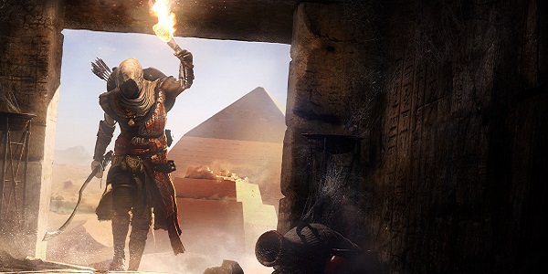 Entering a pyramid in Assassin's Creed: Origins