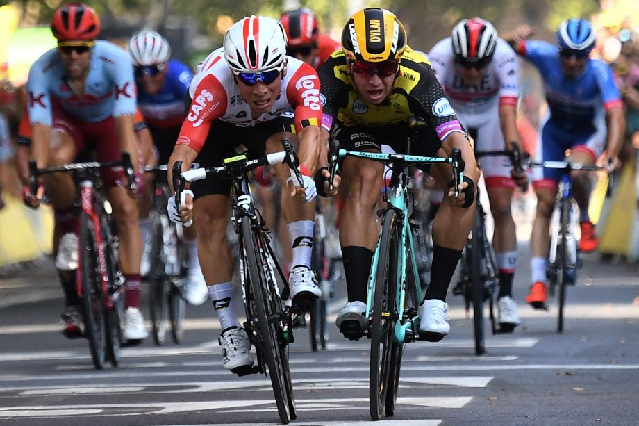 Caleb Ewan takes first Tour de France victory by the finest of margins on stage 11