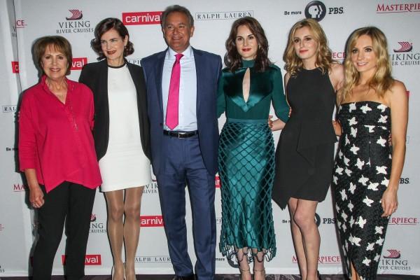 Penelope Wilton, Elizabeth McGovern, Hugh Bonneville, Michelle Dockery, Laura Carmichael and Joanne Froggatt