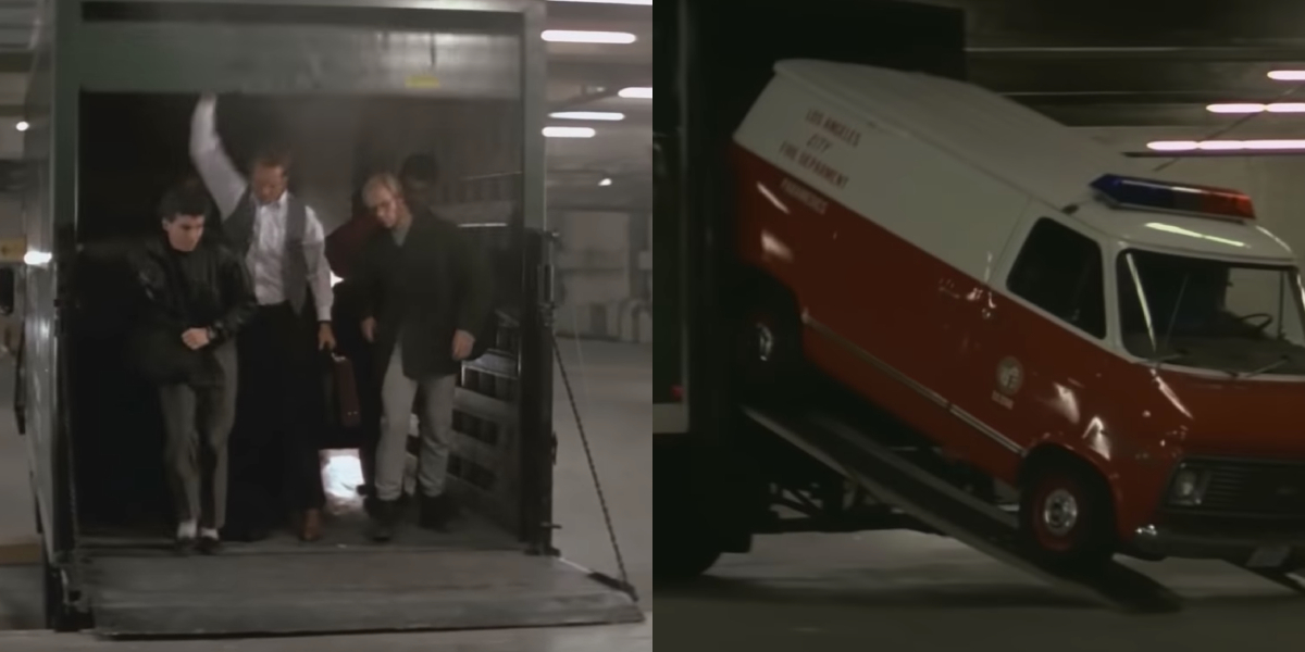 The magic ambulance from Die Hard