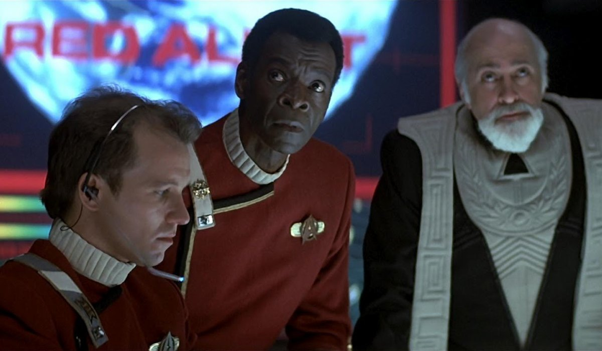 Star Trek IV: The Voyage Home Admiral Cartwright getting a status report