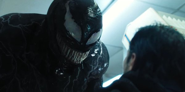 Venom about to eat criminal