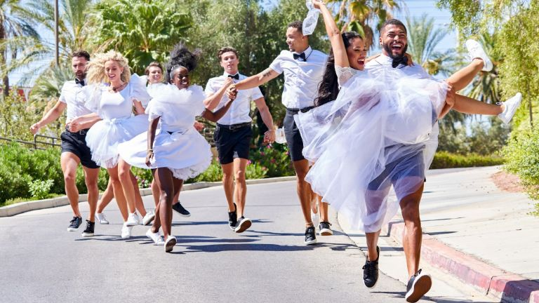 """Connor Trott, Mackenzie Dipman, Calvin Cobb, Justine Ndiba, Carrington Rodriguez, Caleb Corprew, Cely Vazquez and Johnny Middlebrooks. The Thirteenth episode of Love Island airs Sunday, September 7 (9:00-10:00 PM, ET/PT). New episodes air nightly, including the Saturday night episode """"Love Island:"""
