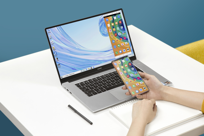 Huawei MateBook D 15 yhdistettynä Huawei Mate 30 Prohon