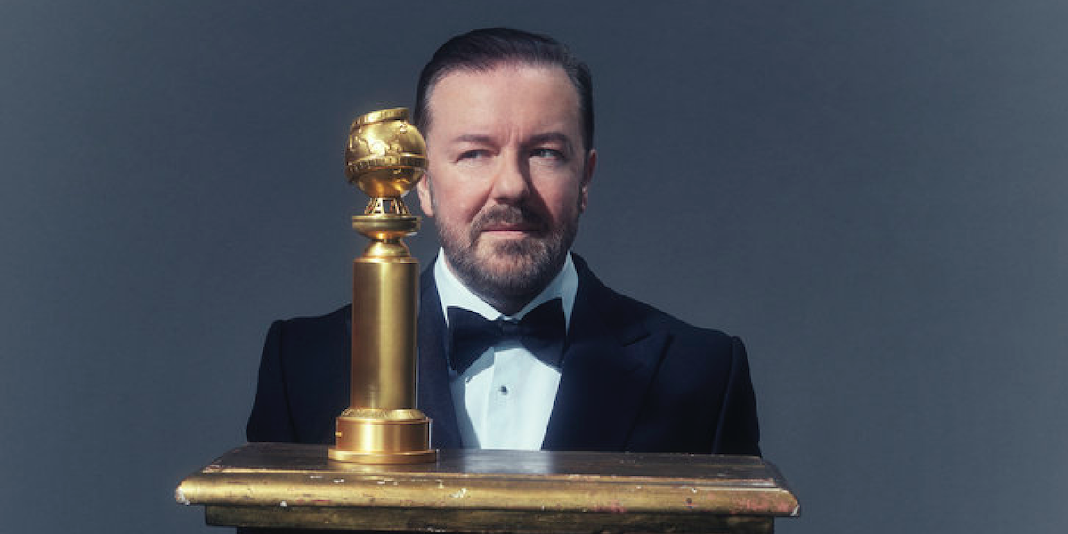 ricky gervais golden globe awards 2020