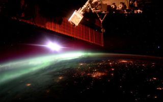 Early Morning Aurora from ISS