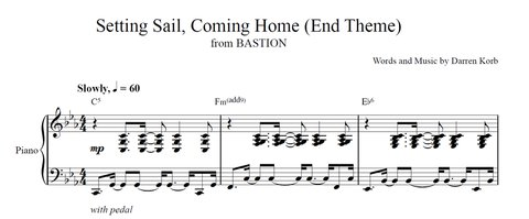 bastion ringtones sheet music now available. Black Bedroom Furniture Sets. Home Design Ideas