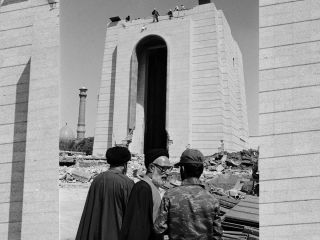 In 1980, Sheikh Sadegh Khalkhali ordered the destruction of Reza Shah Pahlavi's mausoleum in Tehran, Iran.