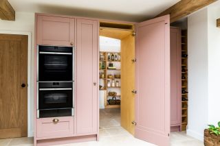 pantry ideas like this concealed larder can be useful for a kitchen space