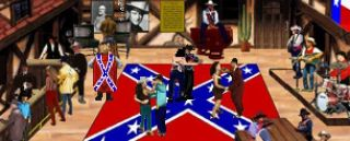 A Confederate fantasy tavern in fan-game Quest for Glory 4 1/2