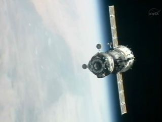 Soyuz Approaches ISS for Docking