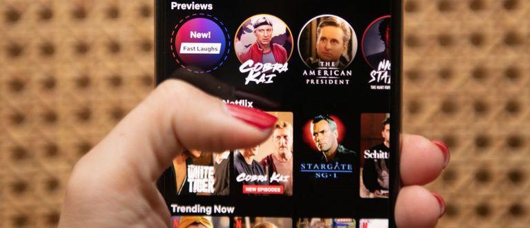 "The Netflix Inc. original series ""Cobra Kai"" on a smartphone"