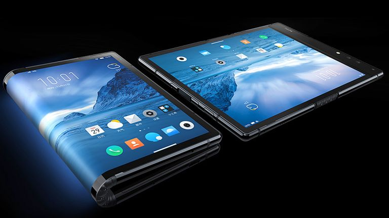 samsung folding phone video